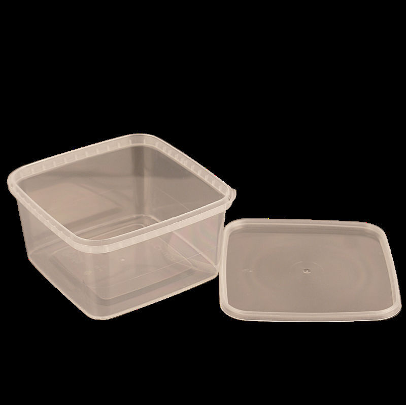 32 oz square pp plastic container with lock