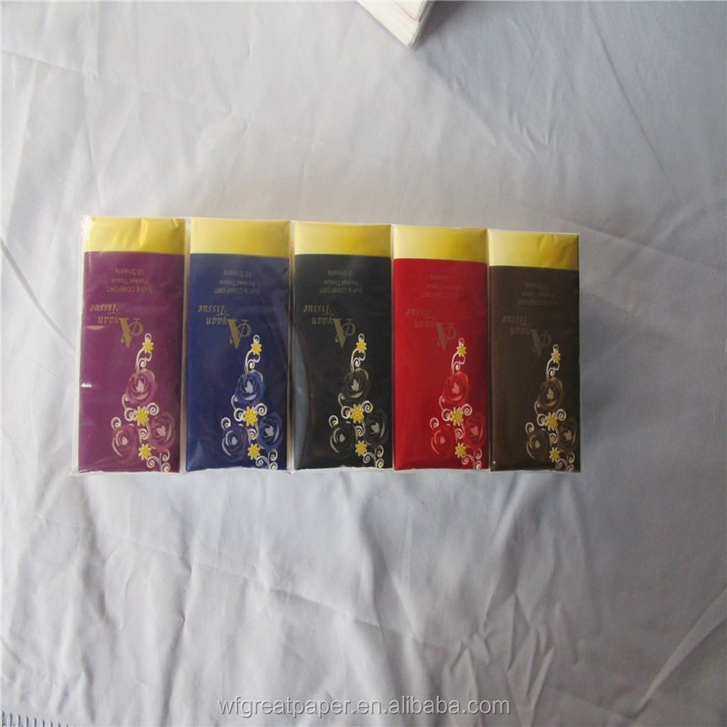 Young and virgin facial tissue 21*21 standard pocket custom logo softness paper