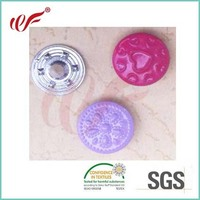 Embossed Metal Jeans Button For Garment / Denim,with painting any color