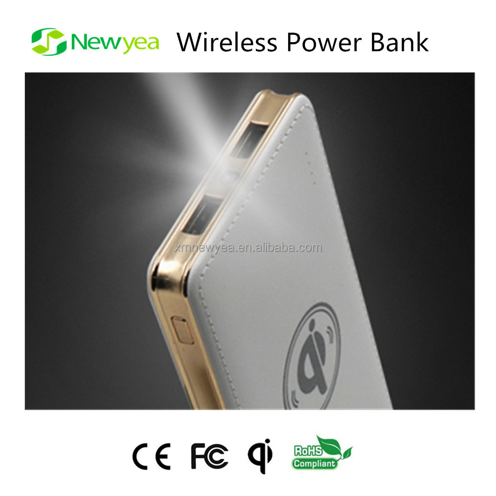 (A73) Newyea Custom Wireless Mobile Charger Power Bank With LED Flashlight