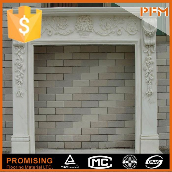 hot sale natural well polished marble made hand carved china white quartz fireplace surrounding