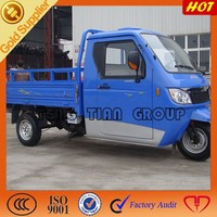 new closed cabin three wheel cargo motorcycle with steering wheel