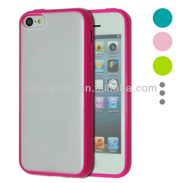 TPU Bumper & Matte PC Backside Hard Protect Case for ip5C