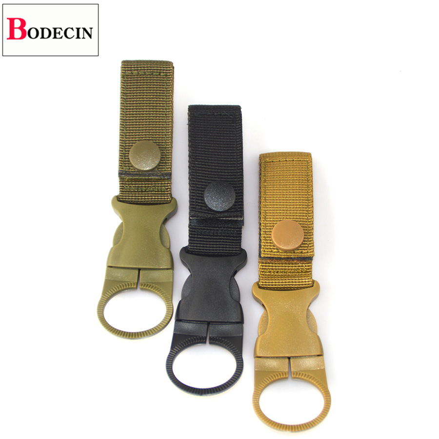 EDC Tactical Gear Military Nylon Webbing For Outdoor Tools Buckle Hook Water Bottle Holder Belt Clip Bushcraft Camp Carabiners (9)