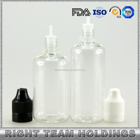 new design pet bottle 50ml long thin tip childproof and tamper seal cap