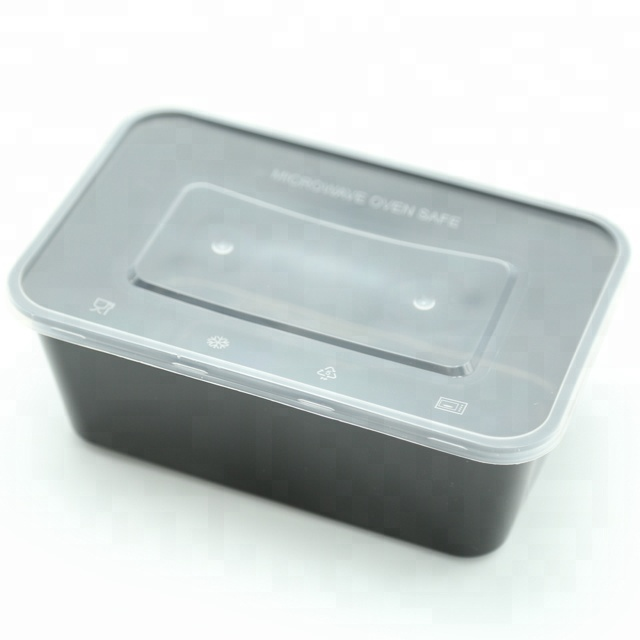 650ml microwavable black <strong>plastic</strong> to go containers