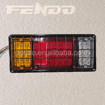 12/24V LED Truck Tail Lamp Trailer Lights With Grille