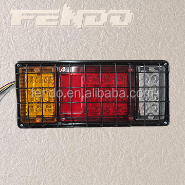 LED Truck Tail Lamp Trailer Lights With Grille