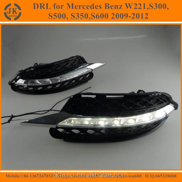 High Quality LED fog Light for Benz LED Daytime Running Light for Mercedes Benz W221 S300,S500,S350,S600 2009-2012