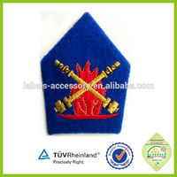 Eco-friendly captain epaulette 2016 custom uniforms embroidered epaulette