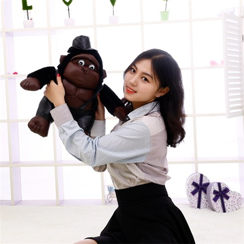 Hanjiang animal fabrication plush muscle Chimpanzee with hat precision household manufacturer