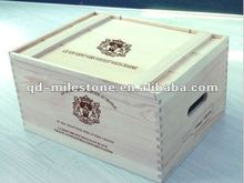 China wooden wine crate manufacturer