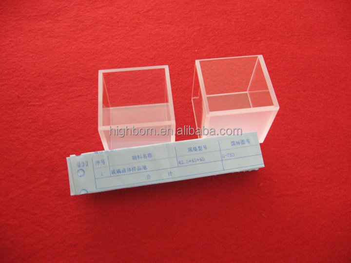 Clear optical UV quartz cell without lid