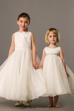 2015 Wholesale Baby Girls Dress Cute Ivory White Love Dress With Shoulder-Straps For Summer