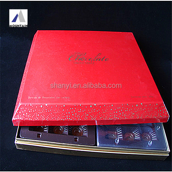 elegant luxury valentine cardboard box with plastic blister