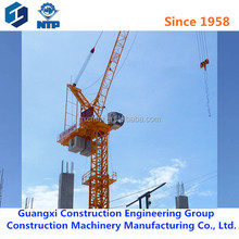D260 erect tower crane load16tons 60m jib length luffing jib tower crane