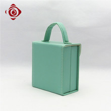 Handy carry hard cover comestic boxes makeup PU latest vanity case