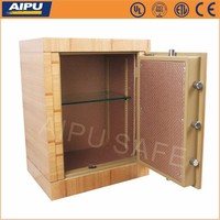 Wooden finish luxury fire proof home safe box HS690-WE/ electronic lock