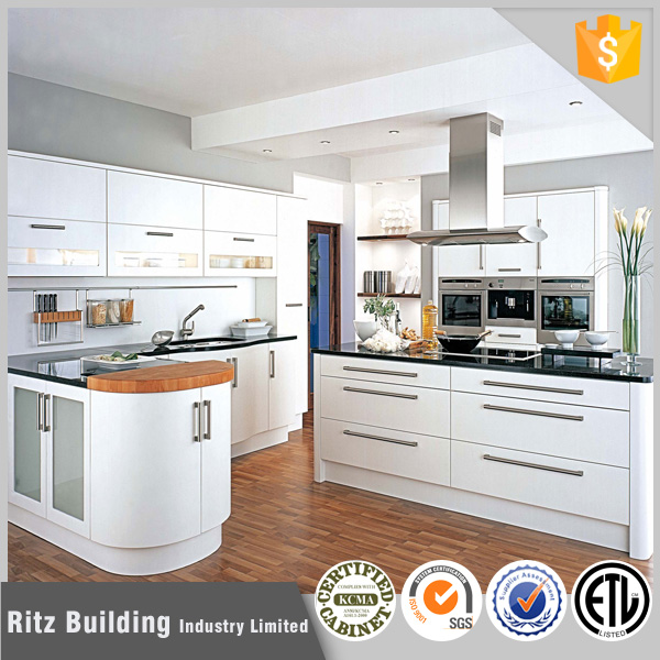 high gloss acrylic MDF wooden kitchen cabinet Modern design