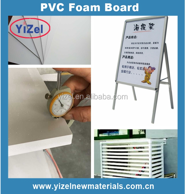 4x8 pvc foam sheet 19mm of CE and ISO9001 standard