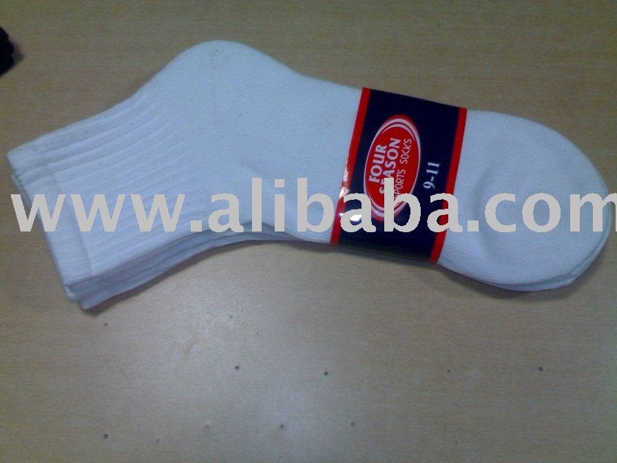 Stock Lot of High End Quality Ankle White Terry Socks