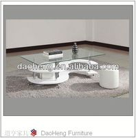 new style modern fashion glass matel MDF S shape coffee table living room & garden furniture