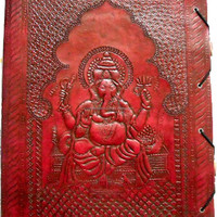 Leather Diary Embossed Cover Leather Notebook