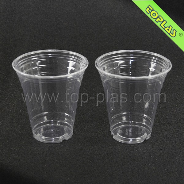 Disposable Plastic Cup Crystal Clear PET 14oz For Iced Coffee Bubble Boba Tea