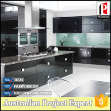 Flat pack high gloss cabinet Acrylic kitchen set mdf board kitchen