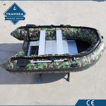 2017 hot sale 360 cm camouflage inflatable fishing boat with rod holder