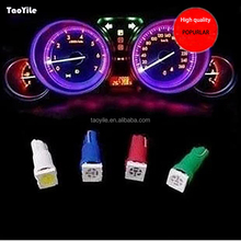 Hotsale factory price super bright mini T5 5050 1smd auto led bulb Mix color dashboard lamp car interior light