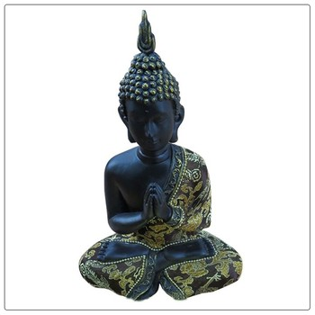 Home decoration wholesale buddha statues with fabric clothes , buddha