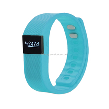 TW64 silicone vibrating wristband bracelet smart watch sport pedometer with veryfit 2.0 software top quality