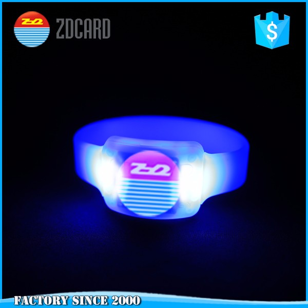 Radio Controlled RFID Flashing LED Wristband for event