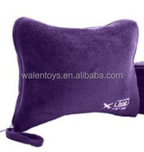 inflatable plush cover pillow,soft pillow,travel pillow with removable covers