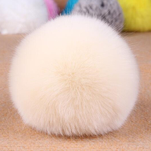 Backpack accessories soft trinket wholesale fluffy rabbit fur pom pom
