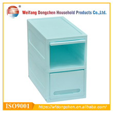 2 Layer Fashion Design Disassemble Plastic Storage Cabinet