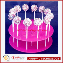 Round pink acrylic cake pop stand ,decorate acrylic cake pops display