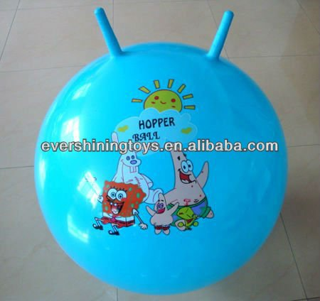 pvc hopper ball/sheep-horn handle ball/bouncing balls