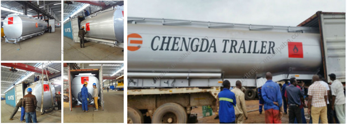 CIMC 3 axles 8 silo new condition oil tank trailer 50CBM hot sale in Malawi