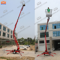 hot sale small hydraulic electic adjustable boom man lift