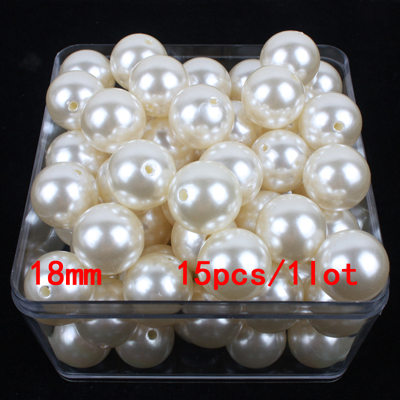 6mm-28mm straight holes ivory round imitation plastic pearl beads for jewelry accessories Beads & Jewelry Making A10