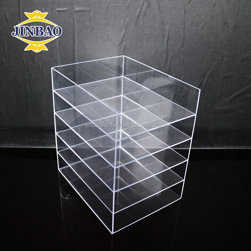 JINBAO wholesale custom design clear acrylic stackable office desk organizer tray
