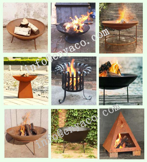China supplier outdoor stainless steel fire pit