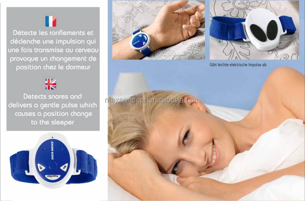 Anti snore device with the watch design