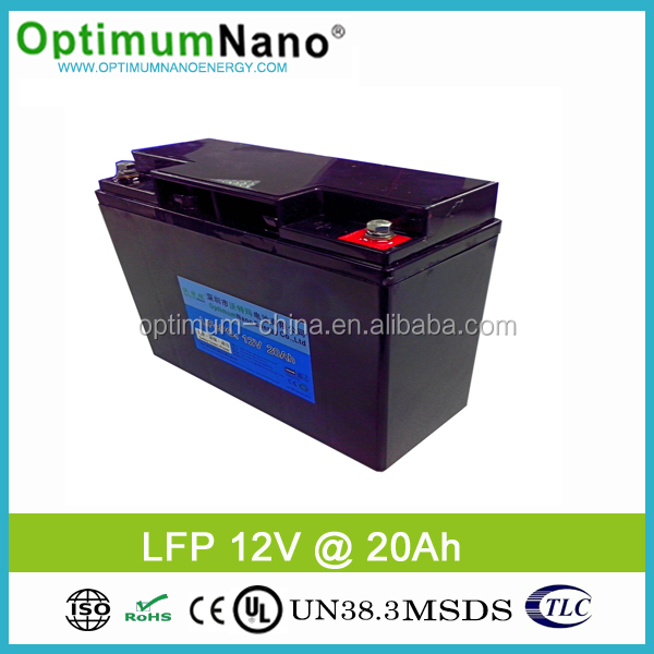 Deep Cycle Lithium Battery 12V 20Ah for Solar Street Lights/ /LED Light/ Electric scooter/Medical tools