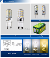 LED G4 G9 Bulb Light 1.5W 3W 5W Cool White Warm White CE ROHS Good Quality 3014 Factory Price