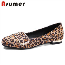Asumer leopard wholesale designer casual flats shoes women