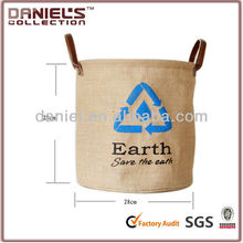 Foldable jute Laundry Bag
