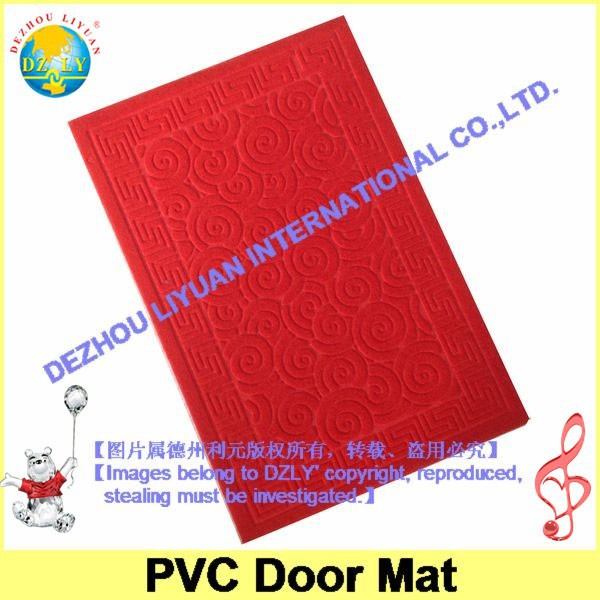 DZLY 2014 new style Nonwoven dust resistance water proof velour embossed surface pvc bath mat